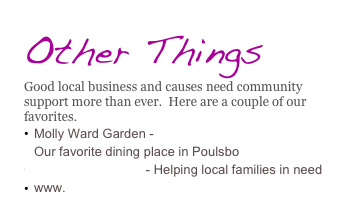 Other Things Good local business and causes need community support more than ever.  Here are a couple of our favorites. Molly Ward Garden - www.mollywardgardens.com